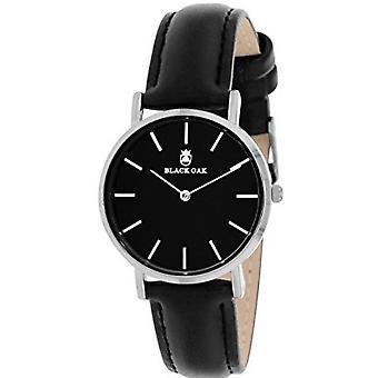 Watch Black Oak BX42002-203 - leather black case steel Silver Dial black woman
