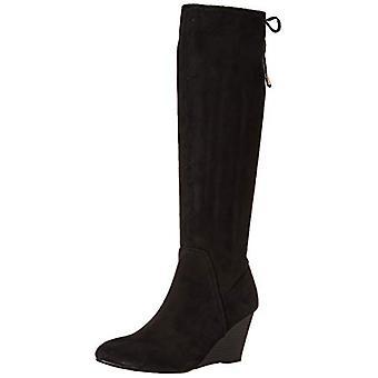 XOXO Women's Burkey Knee High Boot, Black, 6.5 M US