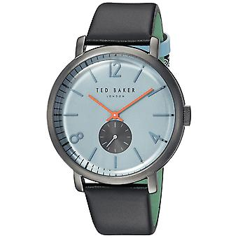 Ted Baker Oliver Quartz Blue Dial Black Leather Strap MensWatch TE15063005
