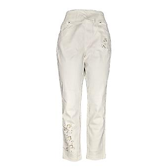 Belle by Kim Gravel Women's Pants Reg Flexibelle Jeggings Ivory A344216