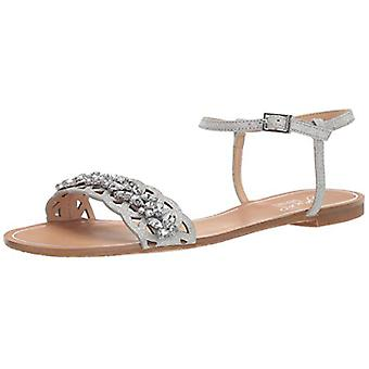 Jewel Badgley Mischka Women's KIMORA Sandal, silver glitter, 5.5 M US