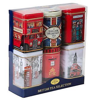 Best of british 6 mini tin gift pack with loose-leaf black tea