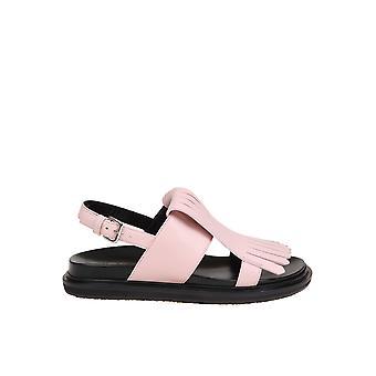 Marni Fbms000301lv817 Women's Nude Leather Sandals