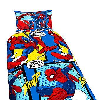 Marvel Spiderman Childrens/Kids Official Webhead Reversible Single Duvet