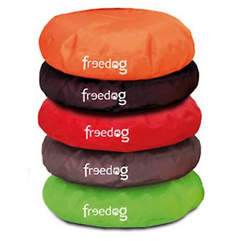 Freedog Red Curve Puff For Pets (Dogs , Bedding , Matresses and Cushions)