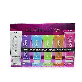 Glamglow Glow Essentials: Mask + Moisture Set: Supermud + Gravitymud + Thirstymud + Powermud + Flashmud + Glowstarter Nude Glow - 6pcs