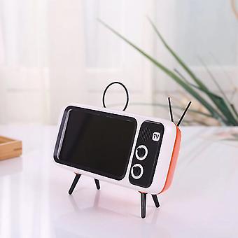 Bakeey mini retro tv modello cellulare cellulare stand portalente pigro compatibile con il telefono cellulare tra 4.7 pollici a 5.5 pollici