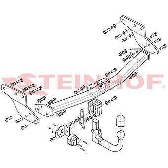 Steinhof Automatic Detachable Towbar (sistema verticale) per Mazda CX-9 2013-2015