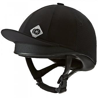 Charles Owen J3 Jockey Skull Riding Helmet - Black