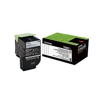 Lexmark 708K Black Return Toner Cartridge