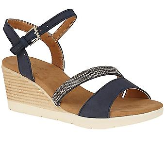 Lotus Lilou Womens Strappy Wedge Shoes