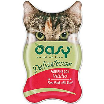 Oasy Fine Pate with Veal (Cats , Cat Food , Wet Food)