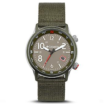 Columbia Outbacker Quartz Olive Dial Green Nylon Strap Men's Watch CSC01-008
