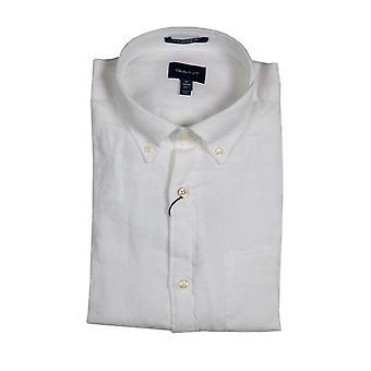 Gant Linen Regular Fit Paita Valkoinen
