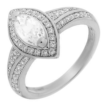 Orphelia srebro 925 pierścień mikro utorować cyrkonu ZR-3525