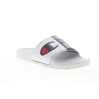 Campione IPO Split Jock Mens White Slip On Slides Sandals Scarpe