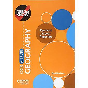 Trenger du å vite - OCR A-nivå Geografi av David Redfern - 9781510428553