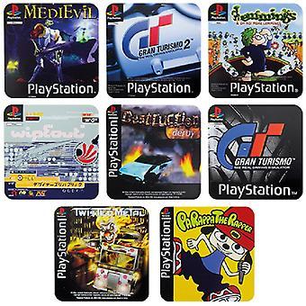 Playstation PS1 Spill Coaster 4-Pakk