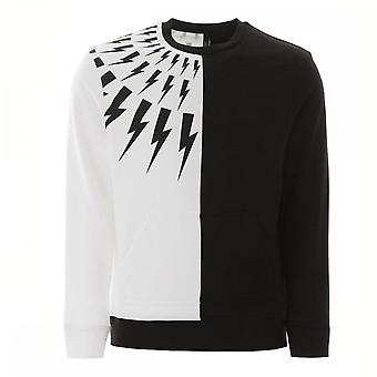 Neil Barrett Half Gesneden Thunder-bolt Sweatshirt