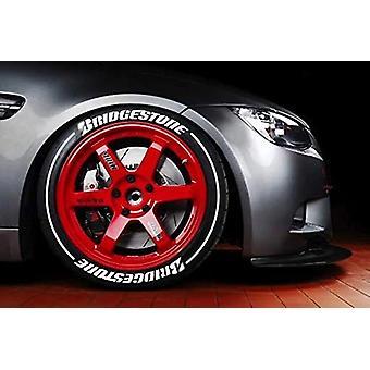Bridgestone White 1,25 tums hög uppsättning för 4 däck bokstäver klistermärken