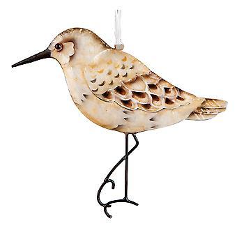Kust strandloper vogel Capiz schelp Pearlized 5 Inch Christmas Ornament vakantie