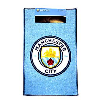 Manchester City FC Official Printed Football Crest Rug