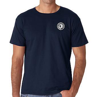 Franske fremmedlegionen 2 Paarchute Regiment - brodert Logo - ringspunnet bomull T-skjorte