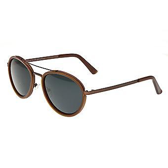 Breed Gemini Titanium Polarized Sunglasses - Brown/Black
