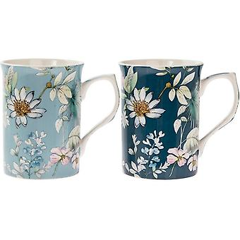 Daisy Meadow Mugs (Set Of 2)