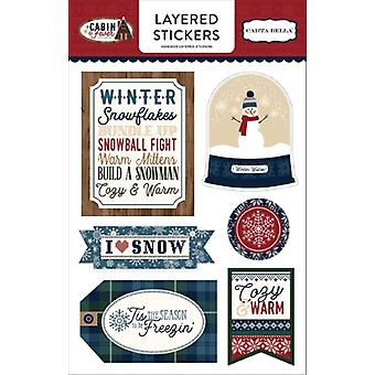 Carta Bella Cabin Fever Layered Stickers