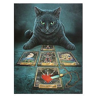 Lisa Parker The Reader Black Cat Canvas