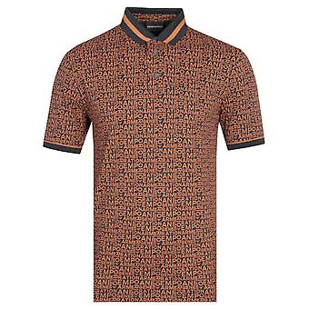 Emporio Armani All Over Orange Polo Shirt