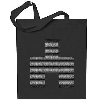 Black Mirror Bandersnatch White Bear Symbol Binaire Totebag