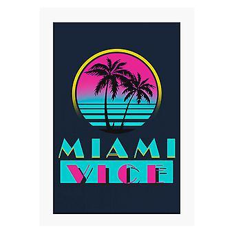 Miami Vice Logo A4 Skriv ut