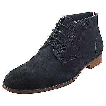 Tommy Hilfiger Casual Embossed Mens Chukka Boots in Desert Sky