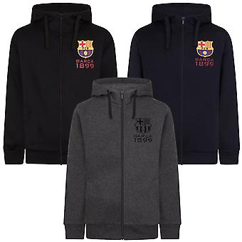 FC Barcelona Mens Hoody Zip Fleece OFFICIAL Football Gift