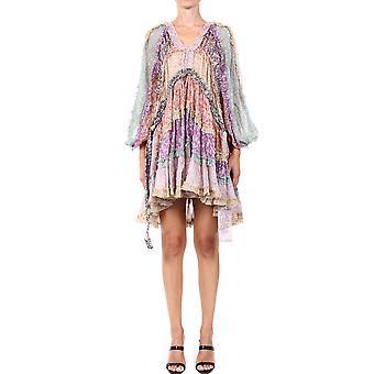 Zimmermann 8033dcarspli Women's Multicolor Silk Dress