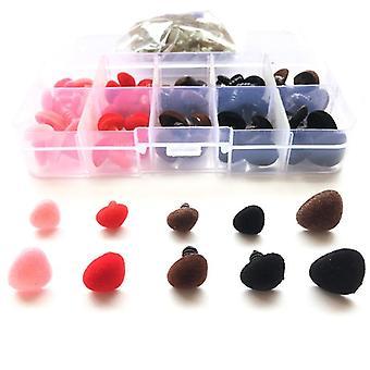 70pcs/Box Multicolor Beflockung dreieckige Sicherheit Spielzeug - Dreieck samt Nase