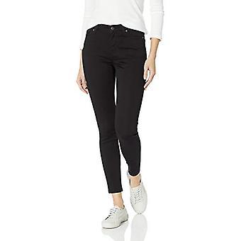 Essentials Women's Skinny Jean, Zwart, 12 Kort