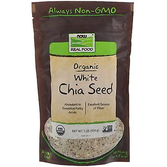 Now Foods, Real Food, Organic White Chia Seed, 1 lb (454 g)