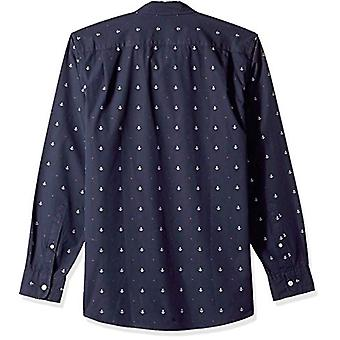 Goodthreads Men's Standard-Fit Camicia Dobby a maniche lunghe, -navy anchor, XX-Large