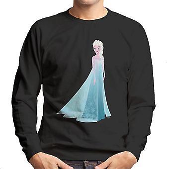 Disney Frozen Elsa Ice Dress Looking Down Men's Sweatshirt