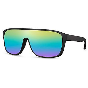 Sunglasses unisex oval cat. 3 black/rainbow