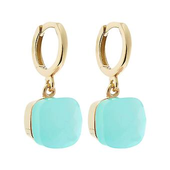 Gemshine earrings sea green chalcedony gemstones 925 silver, gold plated or rose