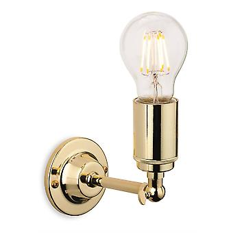 Firstlight Indy - 1 Light Indoor Candle Wall Light Polished Brass, E27