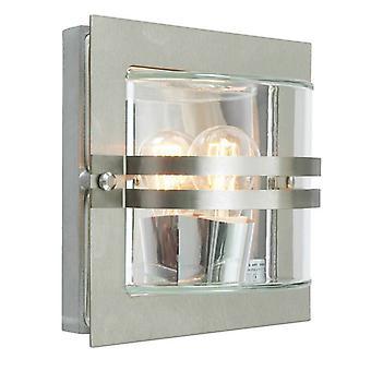 1 Lichte buitenwand licht roestvrij staal IP65, E27