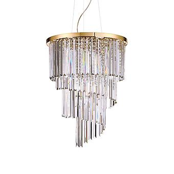 12 Light Pendant Light Gold, E14