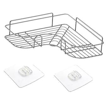 Metal Stand Iron Corner Storage Shelf Wall-mounted Drain Rack Basket For Home Bathroom Kitchen Accessories