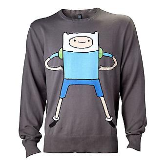 Adventure Time Finn Sweatshirt Male Large Black (KW0IIUADV-L)