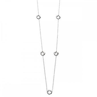 Beginnings Sterling Silver N3974 Organic Station 80cm Necklace
